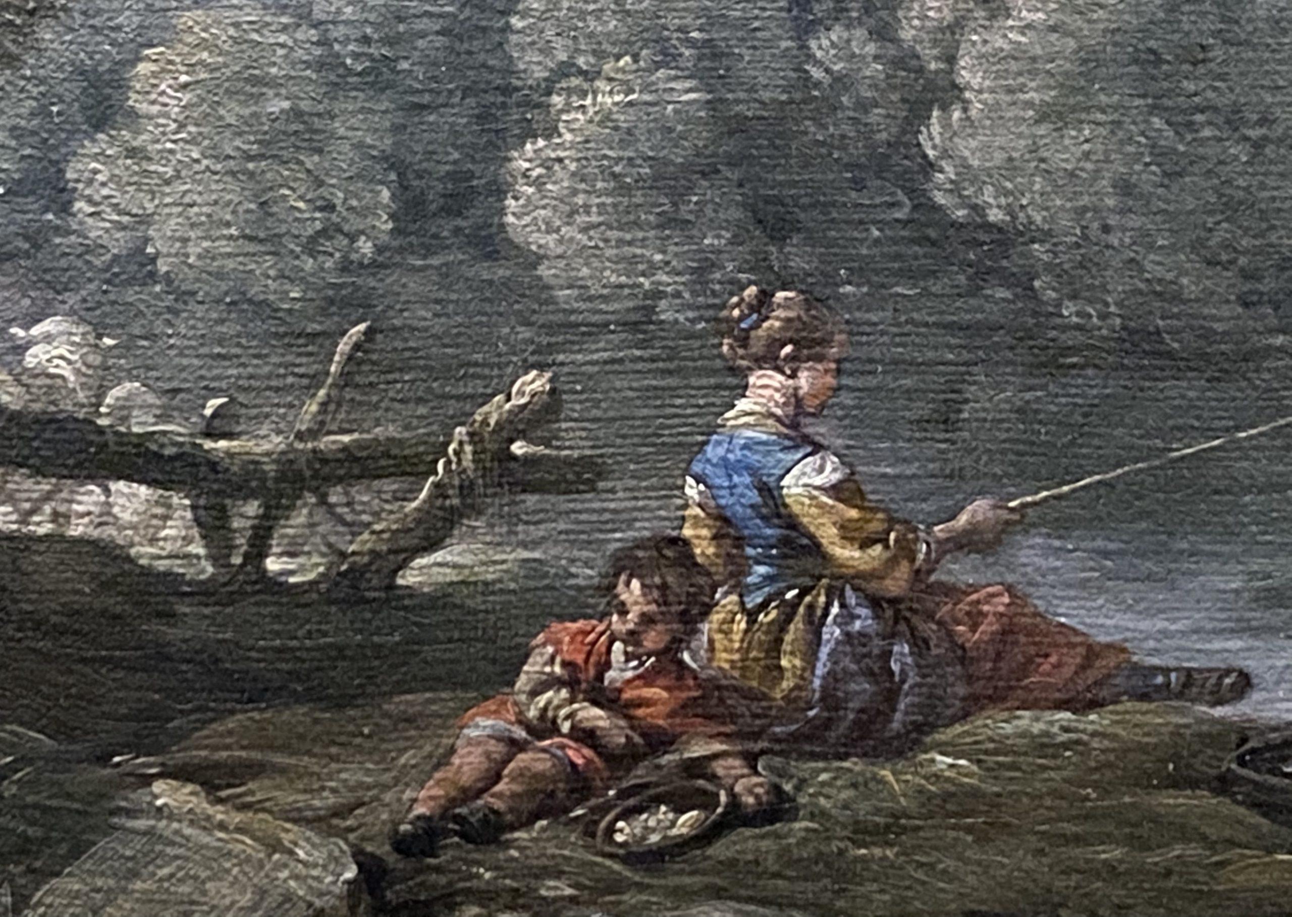 女性釣りの田園風景-フランス-特別展【光影浮空-欧州絵画500年】-成都博物館
