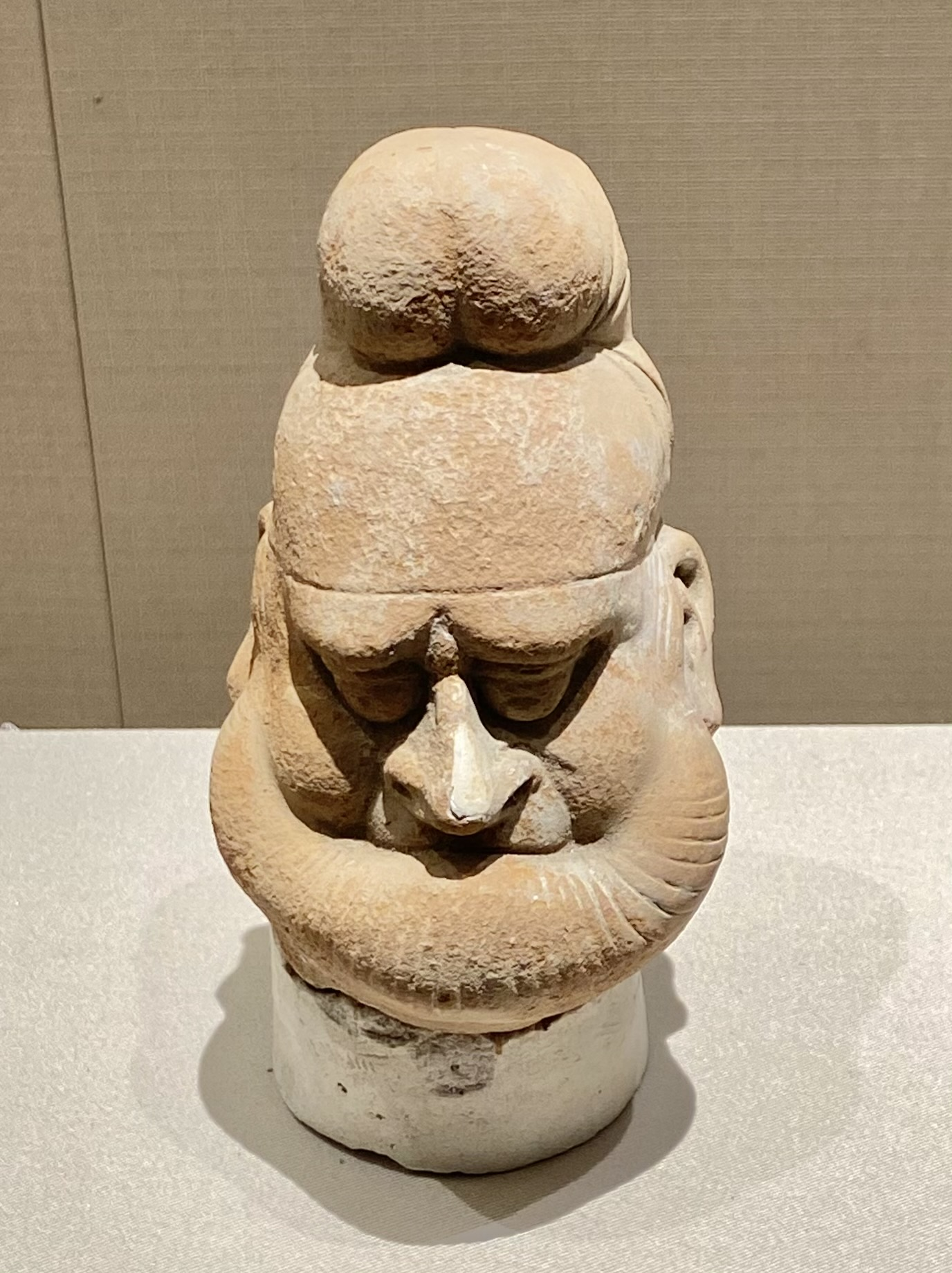 彩絵陶男俑頭-唐時代-巡回特別展【天歌長歌-唐蕃古道】-四川博物館