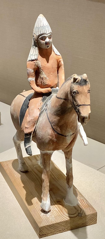 彩絵泥塑騎馬武士俑-唐時代-巡回特別展【天歌長歌-唐蕃古道】-四川博物館