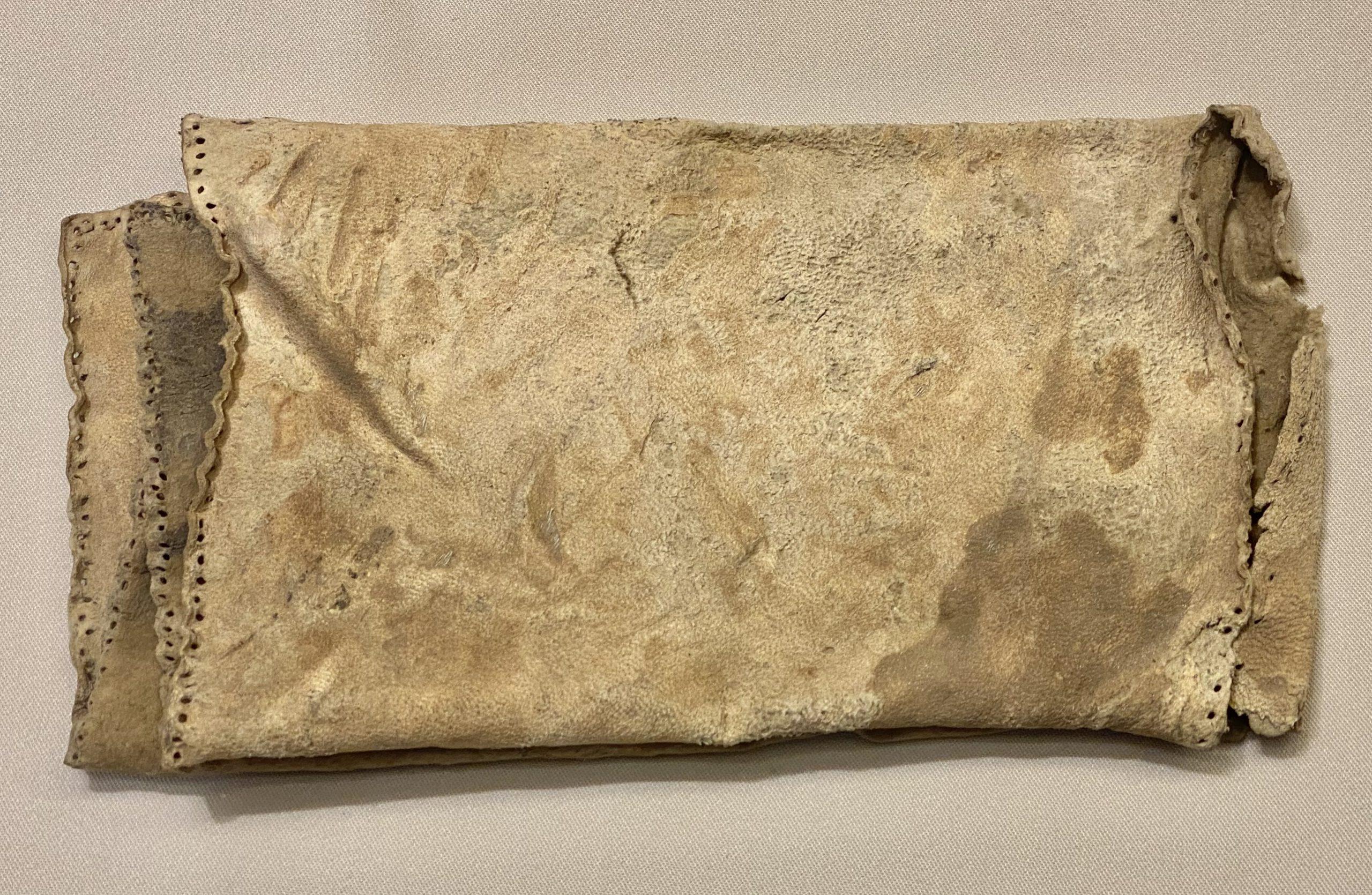 糧袋(皮片)-唐時代-巡回特別展【天歌長歌-唐蕃古道】-四川博物館