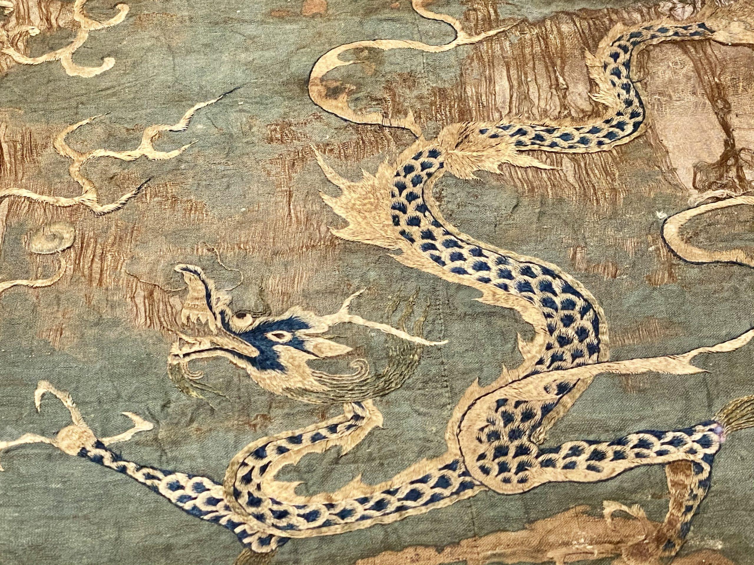 龍紋織錦-唐時代-巡回特別展【天歌長歌-唐蕃古道】-四川博物館