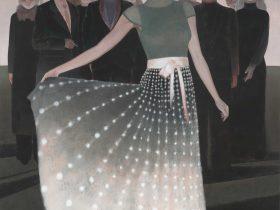 【華灯-1】200x150cm布面アクリル2018-【王小双絵画個展・言いたいことはまだ恥ずかしい】域上和美芸術館