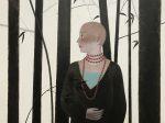 【独白】70x80cm布面アクリル2019-【王小双絵画個展・言いたいことはまだ恥ずかしい】域上和美芸術館