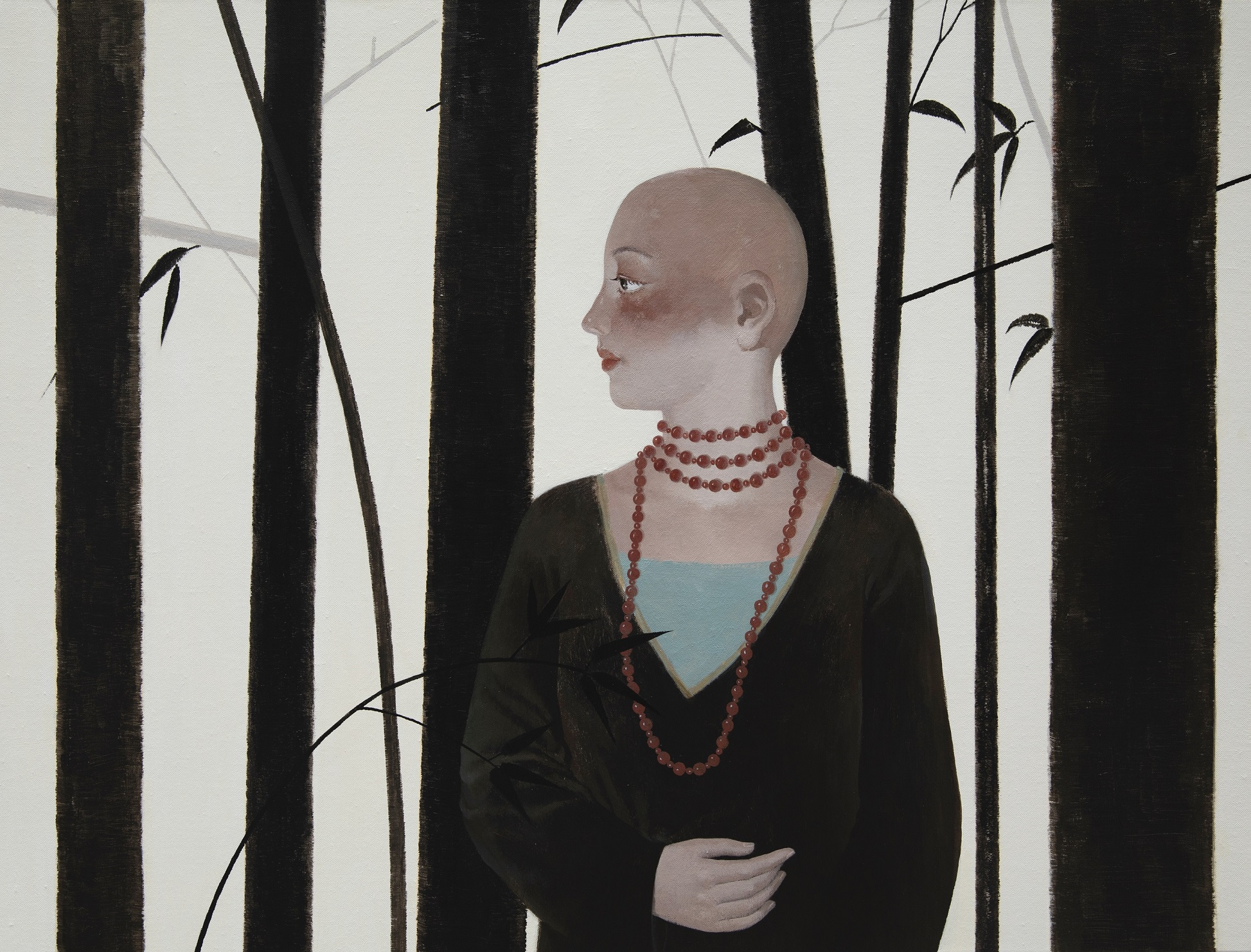 【独白】60x80cm布面アクリル2019-【王小双絵画個展・言いたいことはまだ恥ずかしい】域上和美芸術館