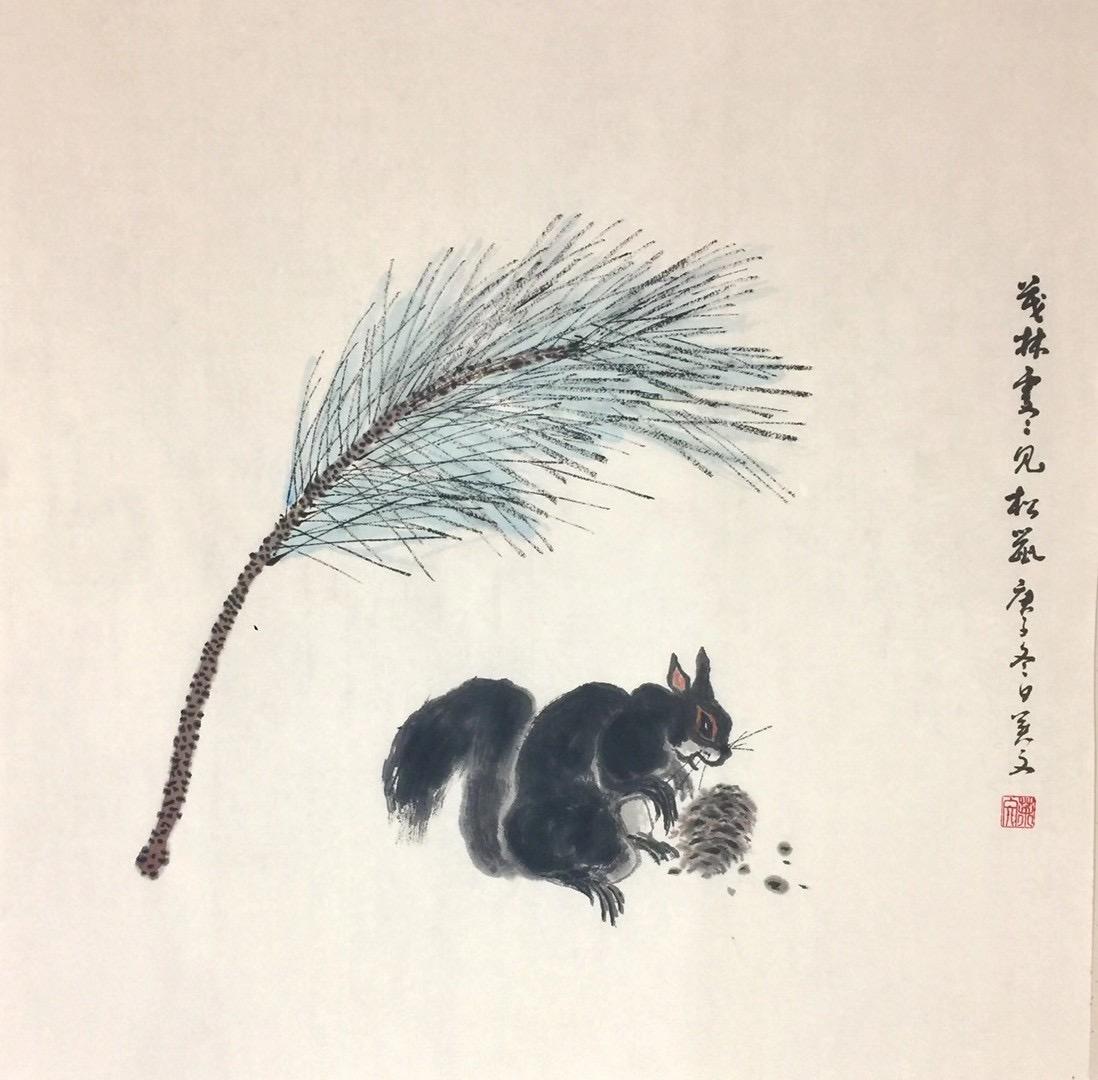 初春幽居-宋代・陸遊-書画:王英文-南山老人