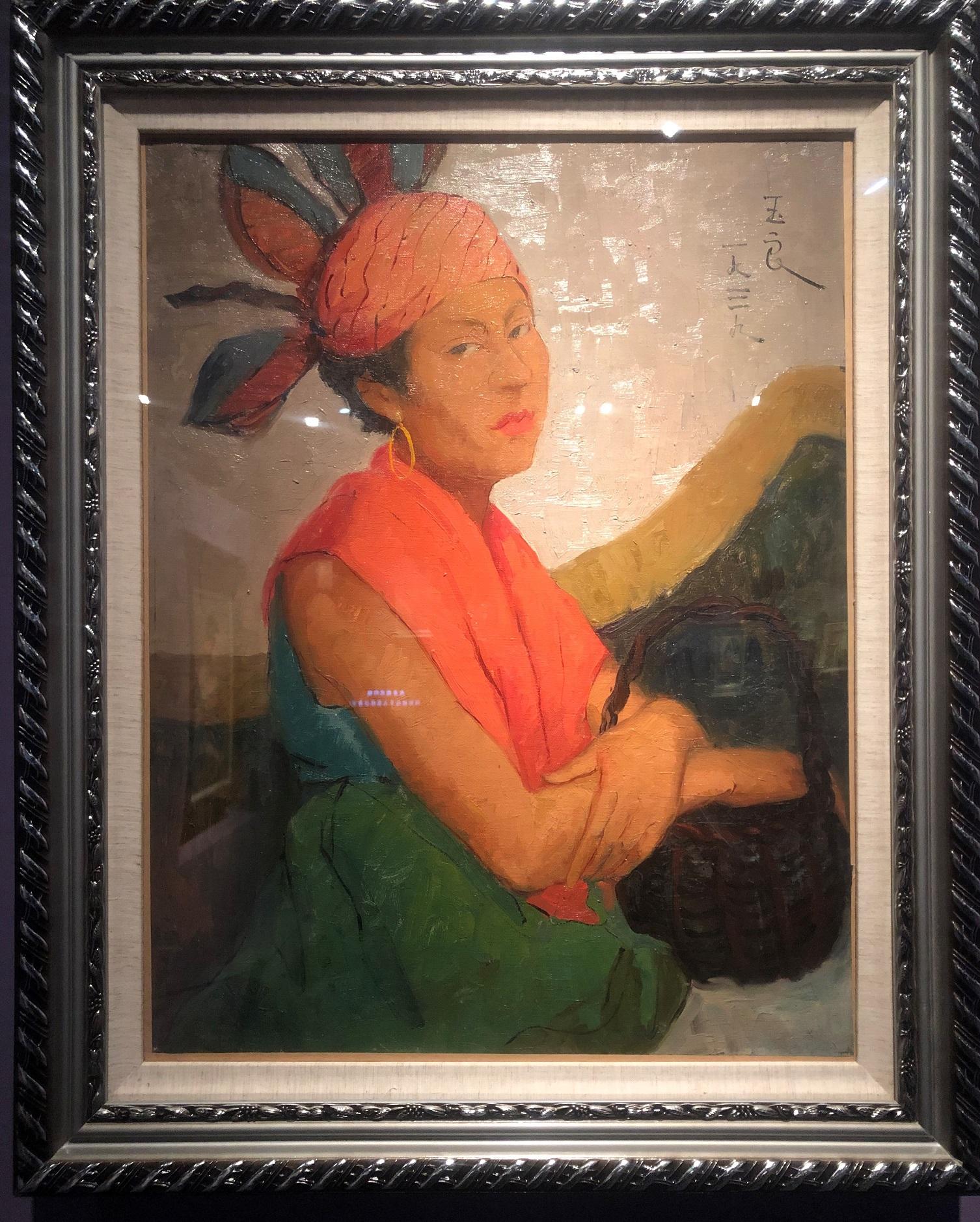 サッチェルの女性-特別展【玉汝にする成功—潘玉良の芸術人生】成都博物館・安徽博物院