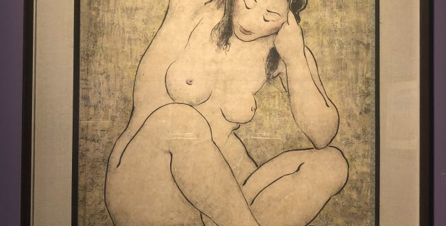 髪を抜く裸婦-特別展【玉汝にする成功—潘玉良の芸術人生】成都博物館・安徽博物院