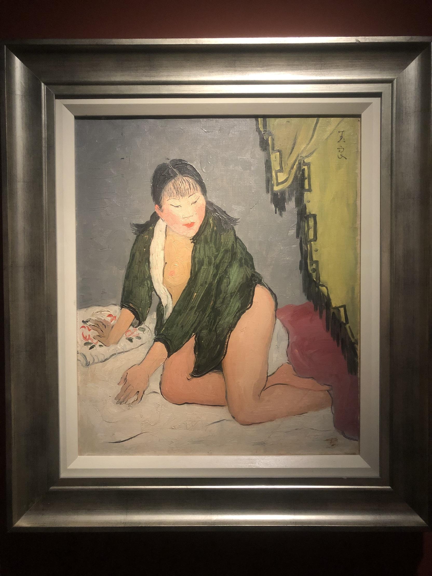 緑服裸婦-特別展【玉汝にする成功—潘玉良の芸術人生】成都博物館・安徽博物院