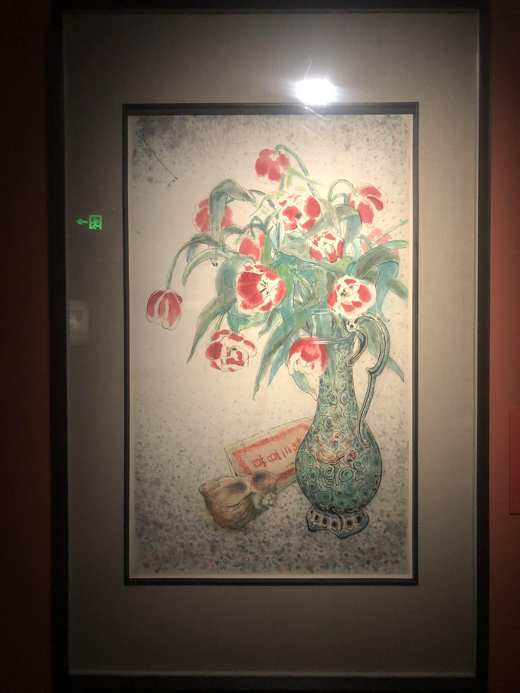 チューリップと漢詩-特別展【玉汝にする成功—潘玉良の芸術人生】成都博物館・安徽博物院