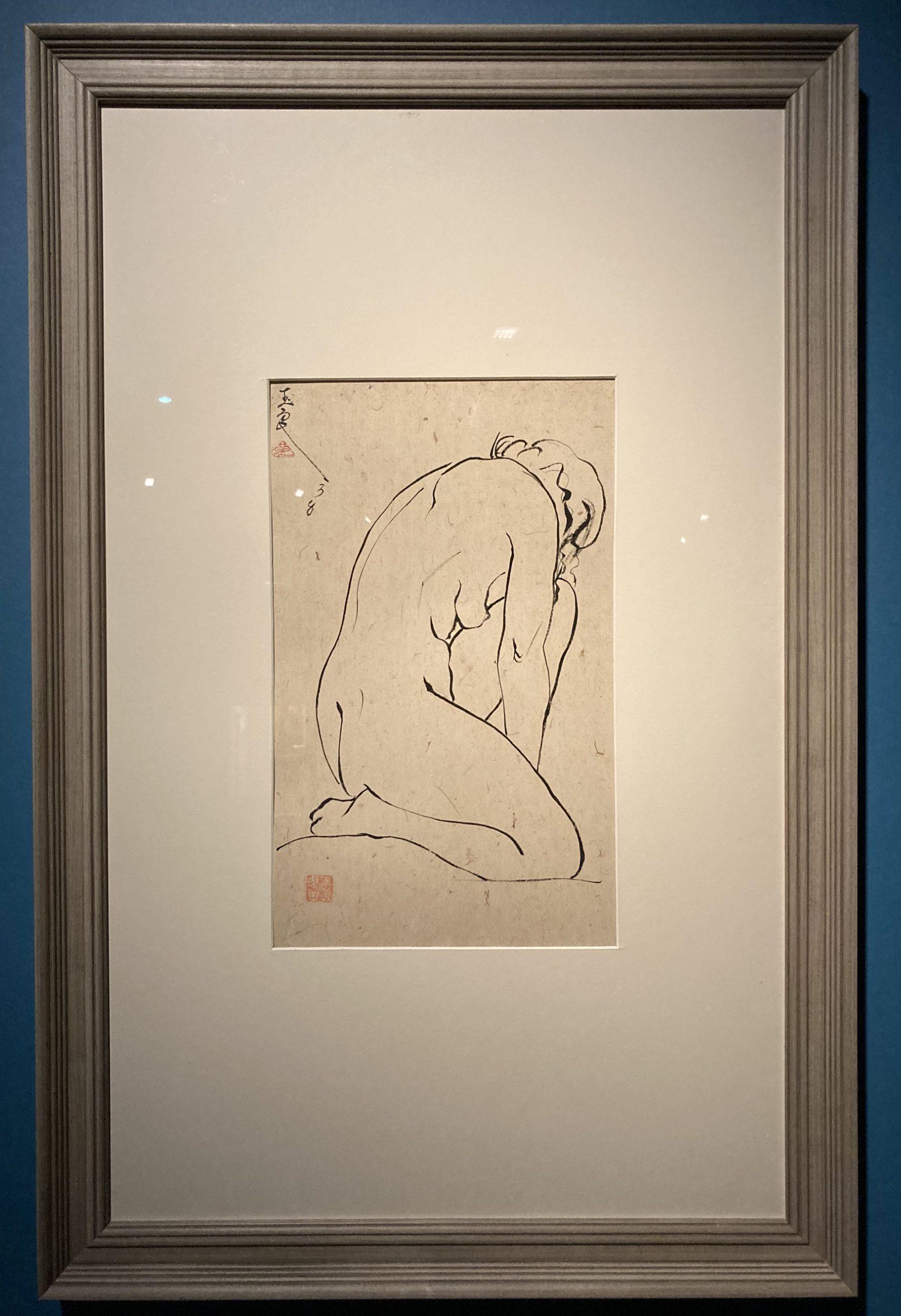 ひざまずく裸婦-特別展【玉汝にする成功—潘玉良の芸術人生】成都博物館・安徽博物院