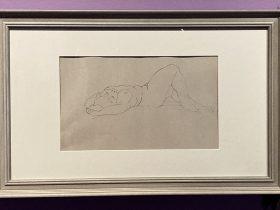 あおむけに寝る裸婦-特別展【玉汝にする成功—潘玉良の芸術人生】成都博物館・安徽博物院