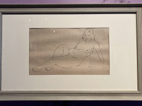 手ついて座る裸婦-特別展【玉汝にする成功—潘玉良の芸術人生】成都博物館・安徽博物院