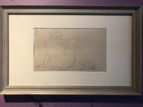 手ついて背向き裸婦-特別展【玉汝にする成功—潘玉良の芸術人生】成都博物館・安徽博物院