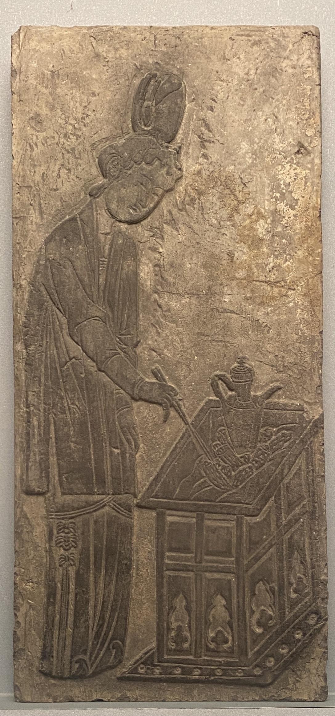 仕女烹茶レンガ彫刻-宋時代-特別展【食味人間】四川博物院・中国国家博物館