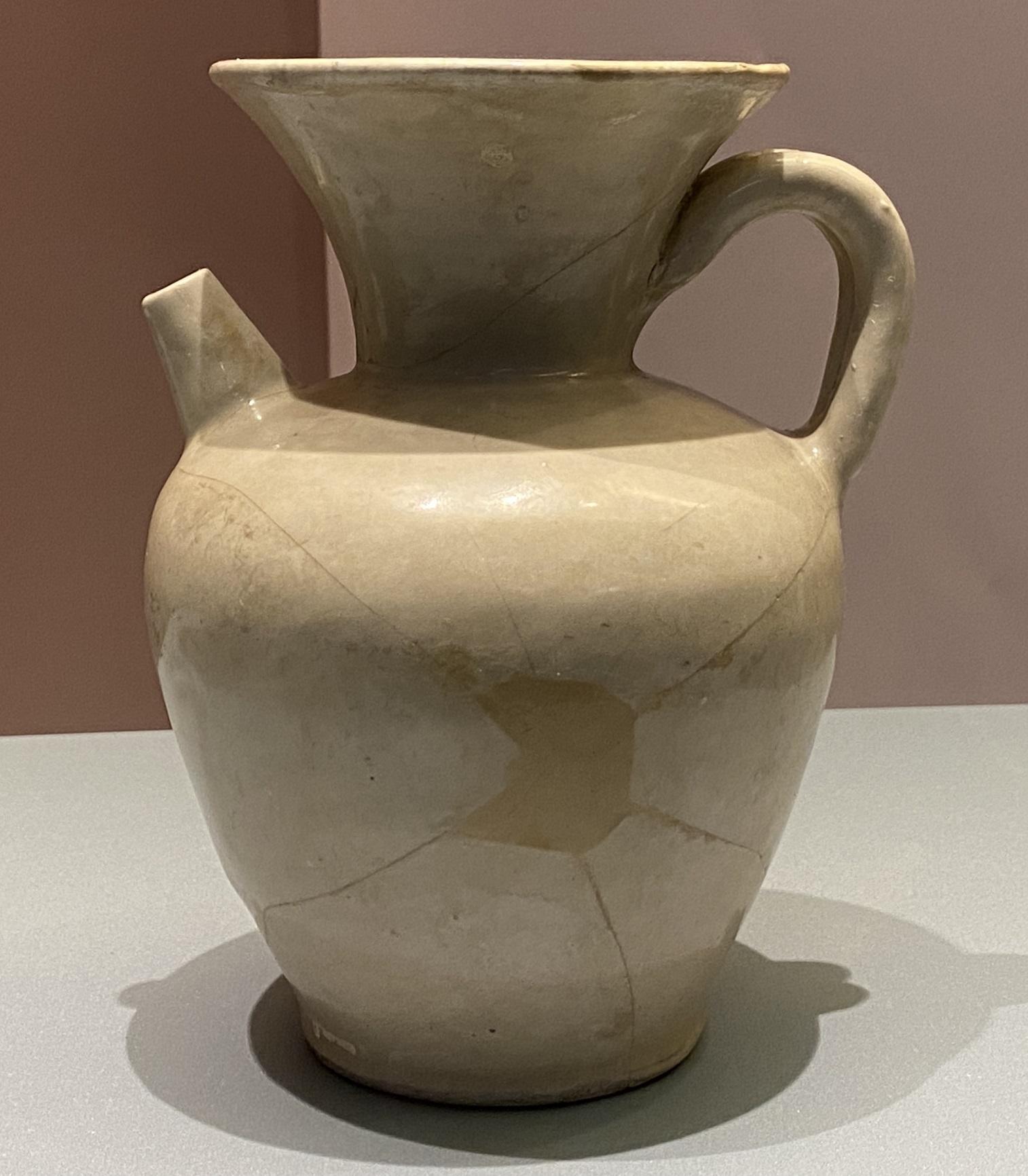 白釉磁湯瓶-唐時代-特別展【食味人間】四川博物院・中国国家博物館
