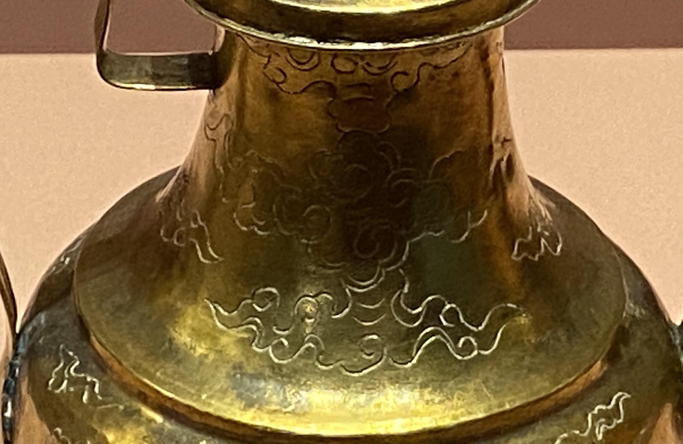 龍鳳紋金執壺-明時代-特別展【食味人間】四川博物院・中国国家博物館