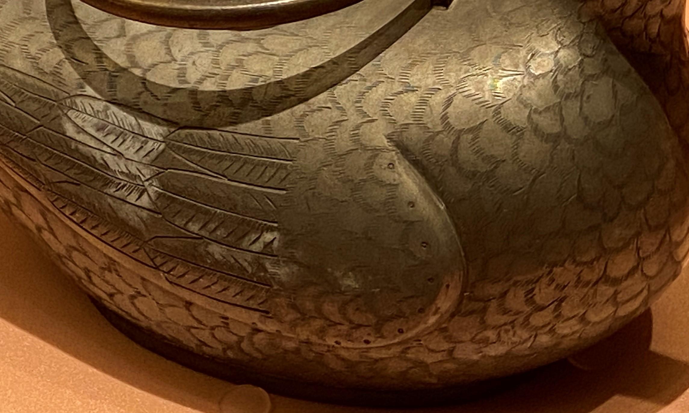 鴨形錫茶壺-清時代-特別展【食味人間】四川博物院・中国国家博物館