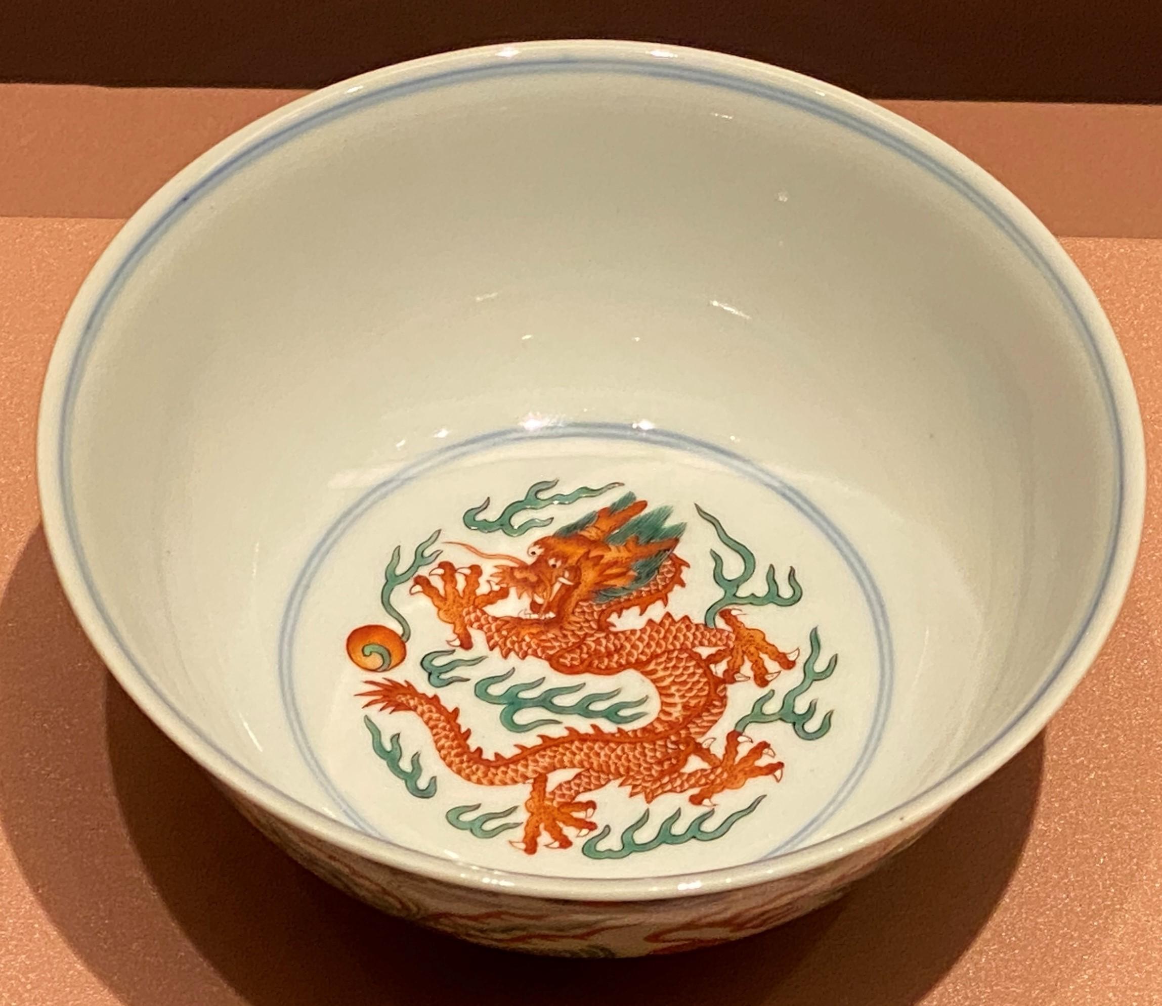 乾隆鬥彩八宝龍鳳碗-清時代-特別展【食味人間】四川博物院・中国国家博物館