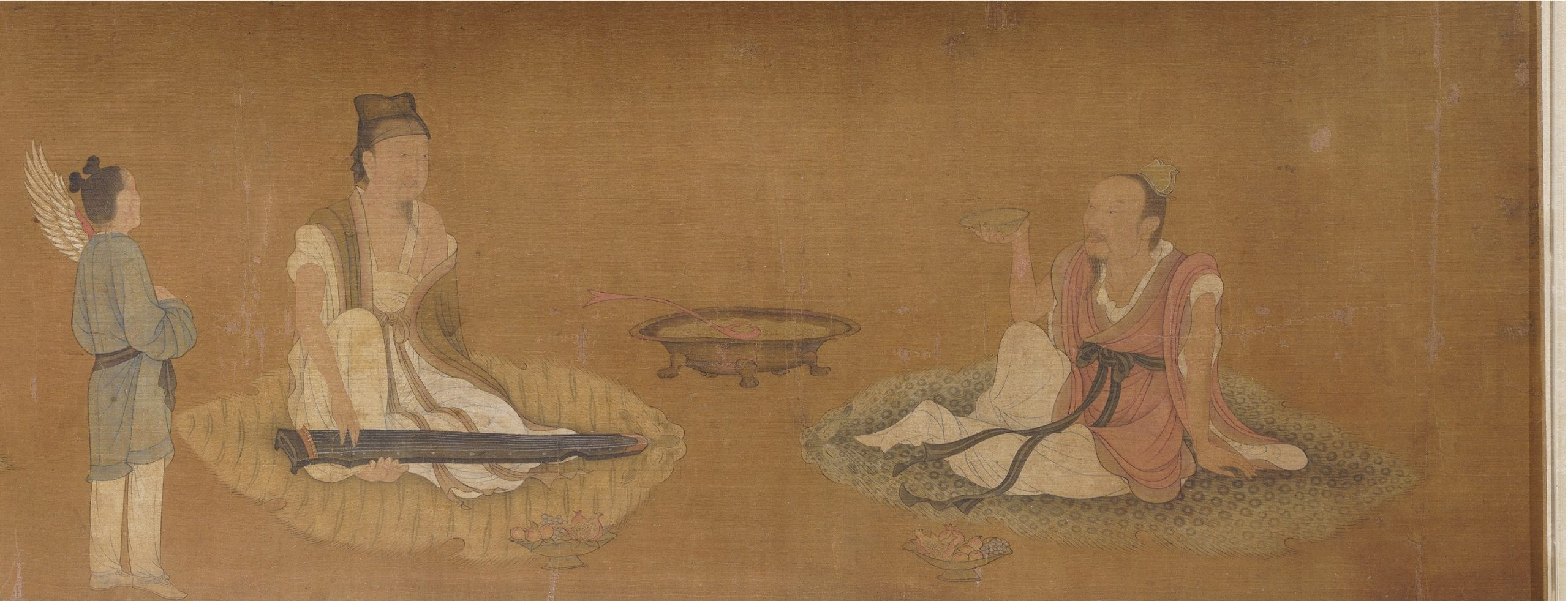 竹林七賢図-元時代-趙孟頫(伝)-遼寧省博物館-撮影:ZhangYan