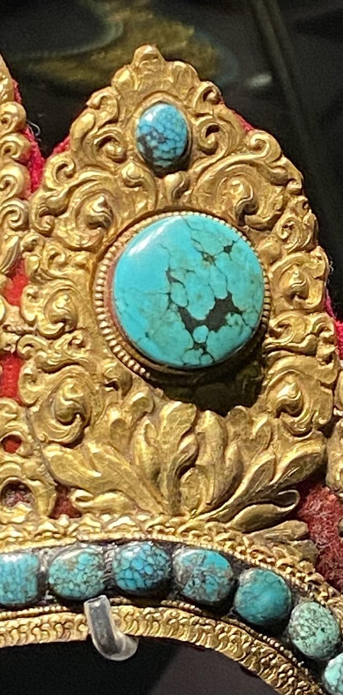 銅鎏金嵌宝石五葉冠-特別展【七宝玲瓏-ヒマラヤからの芸術珍品】-金沙遺跡博物館-成都