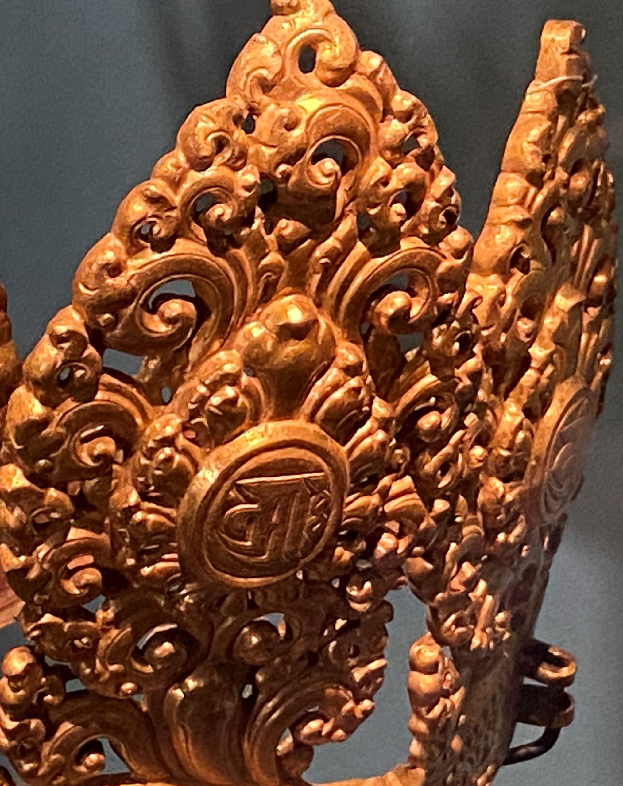 銅鎏金五葉冠-特別展【七宝玲瓏-ヒマラヤからの芸術珍品】-金沙遺跡博物館-成都