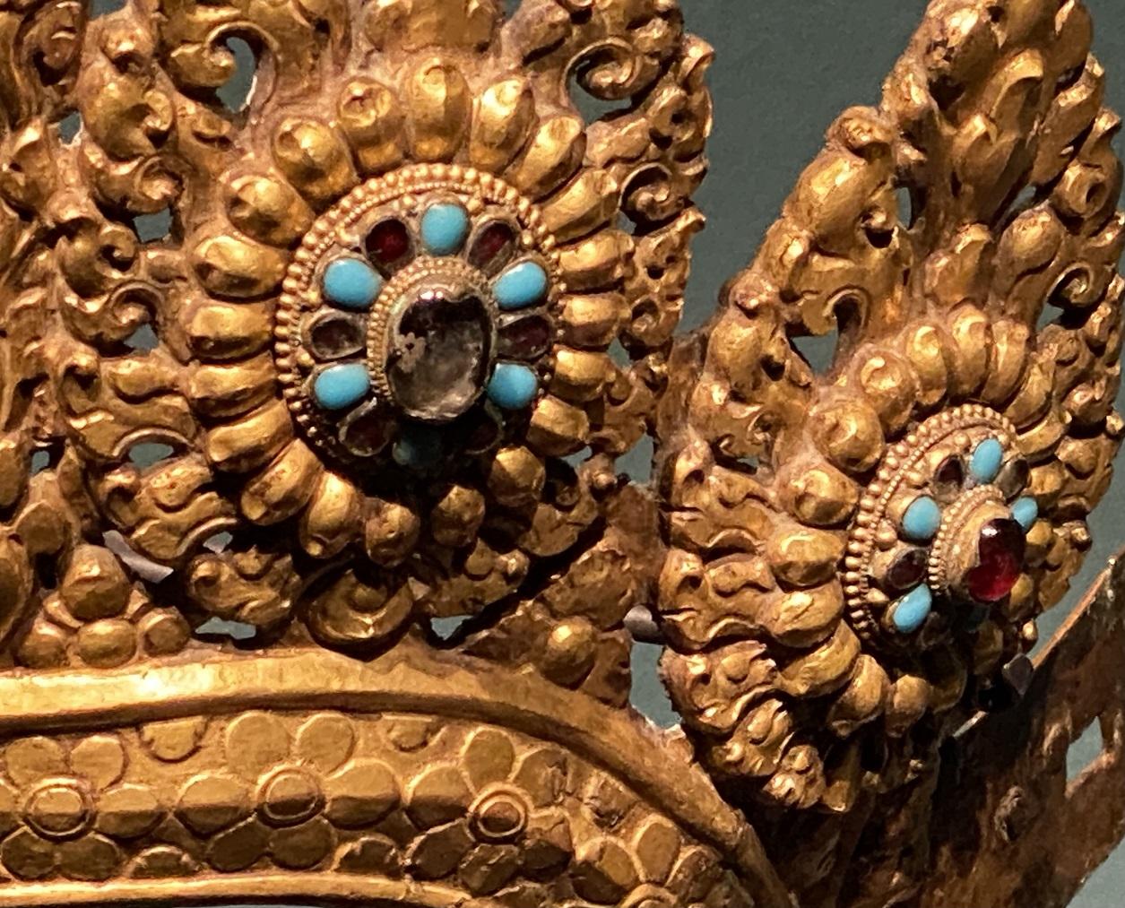 銅鎏金仏像冠-特別展【七宝玲瓏-ヒマラヤからの芸術珍品】-金沙遺跡博物館-成都