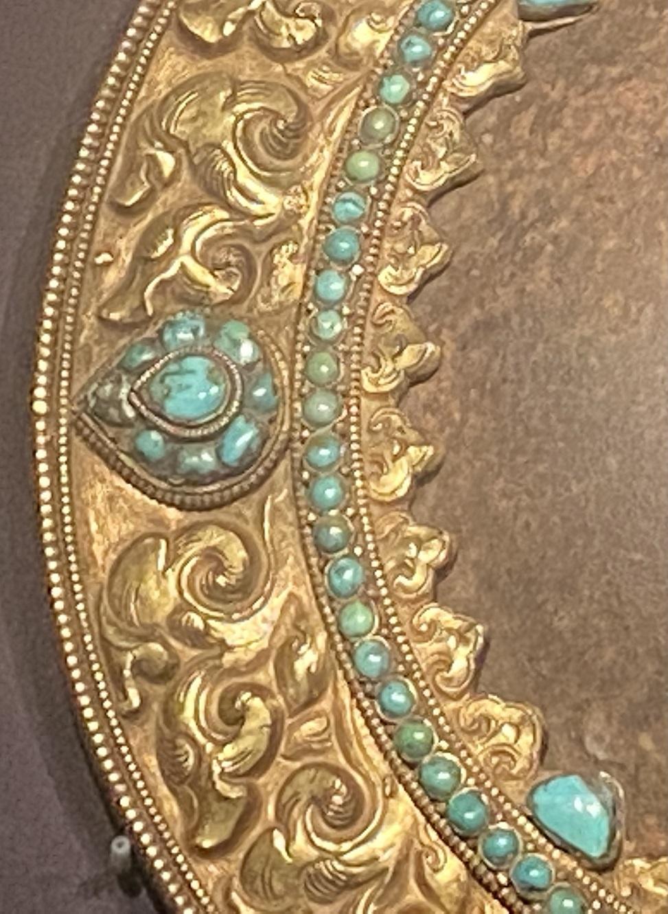 鉄鑲銅邊嵌綠松石護心鏡-特別展【七宝玲瓏-ヒマラヤからの芸術珍品】-金沙遺跡博物館-成都