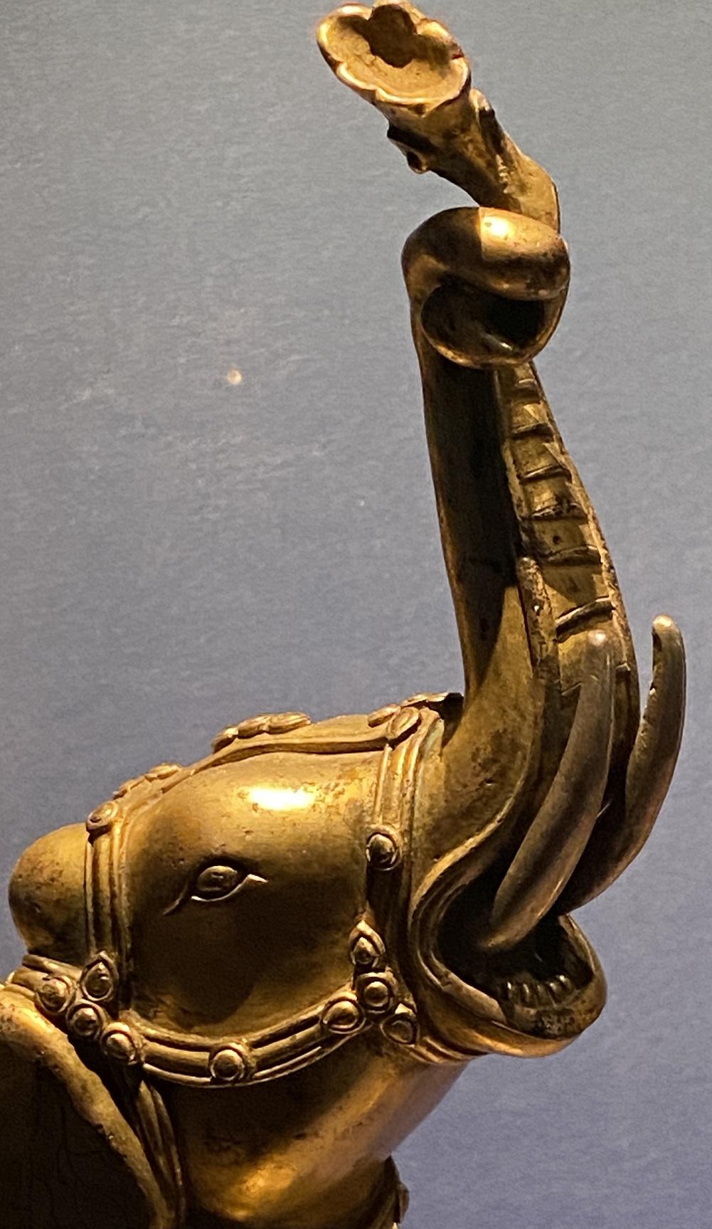 銅鎏金大象-特別展【七宝玲瓏-ヒマラヤからの芸術珍品】-金沙遺跡博物館-成都