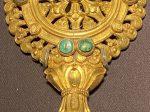 銀鎏金嵌緑松石法輪-特別展【七宝玲瓏-ヒマラヤからの芸術珍品】-金沙遺跡博物館-成都