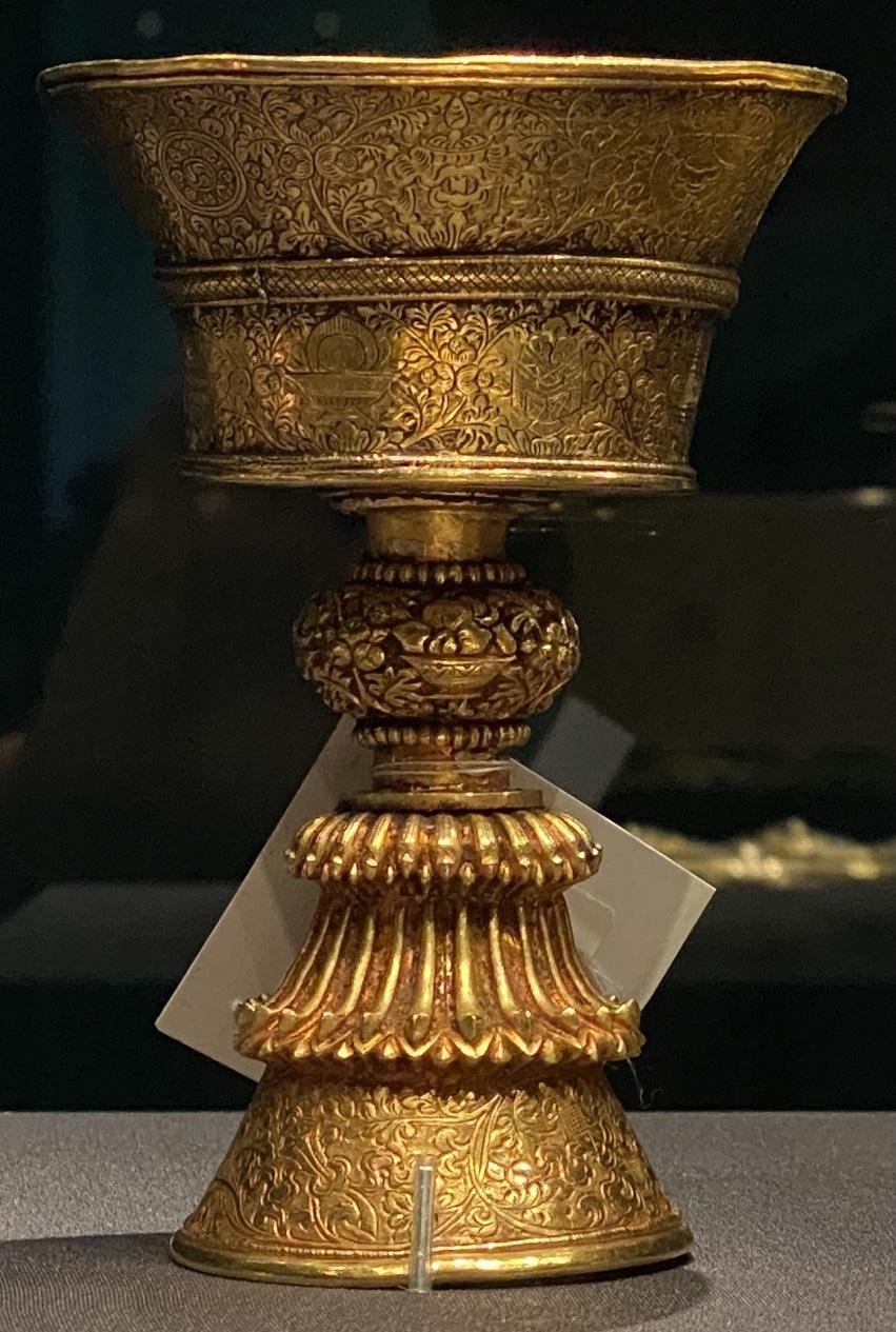 金酥油灯-特別展【七宝玲瓏-ヒマラヤからの芸術珍品】-金沙遺跡博物館-成都