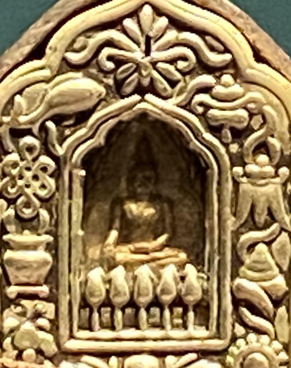 銅鎏金八宝紋仏龕式嘎嗚-特別展【七宝玲瓏-ヒマラヤからの芸術珍品】-金沙遺跡博物館-成都