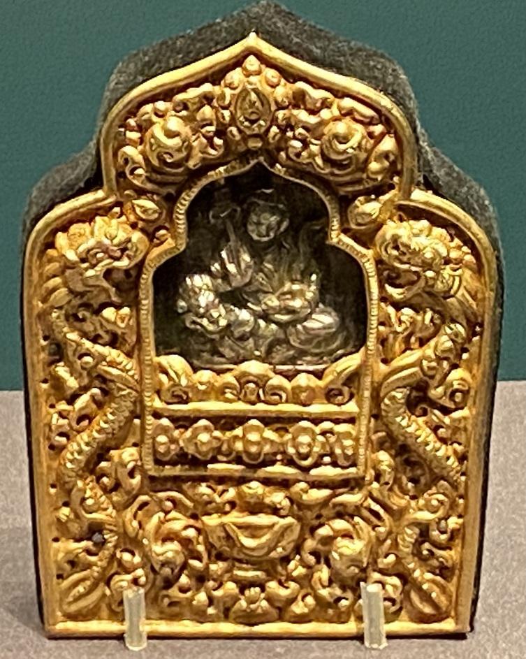 銅鎏金仏龕式嘎嗚-特別展【七宝玲瓏-ヒマラヤからの芸術珍品】-金沙遺跡博物館-成都