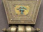 銀嵌緑松石法瓶紋嘎嗚-特別展【七宝玲瓏-ヒマラヤからの芸術珍品】-金沙遺跡博物館-成都