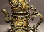 銅鎏金四天王紋壺-特別展【七宝玲瓏-ヒマラヤからの芸術珍品】-金沙遺跡博物館-成都
