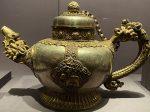 銀鎏金鏨花茶壺-特別展【七宝玲瓏-ヒマラヤからの芸術珍品】-金沙遺跡博物館-成都