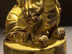 銅鎏金獅印章-特別展【七宝玲瓏-ヒマラヤからの芸術珍品】-金沙遺跡博物館-成都