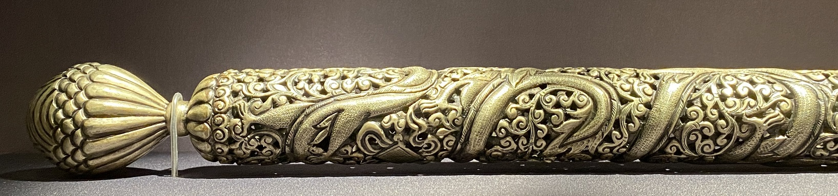 銅鎏金文具-特別展【七宝玲瓏-ヒマラヤからの芸術珍品】-金沙遺跡博物館-成都