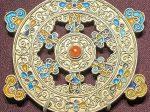 銀焼藍巻紋圓墜飾-特別展【七宝玲瓏-ヒマラヤからの芸術珍品】-金沙遺跡博物館-成都