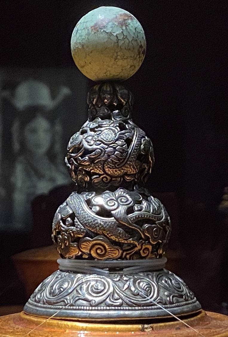 金、銀嵌宝石頂塔式官帽-特別展【七宝玲瓏-ヒマラヤからの芸術珍品】-金沙遺跡博物館-成都