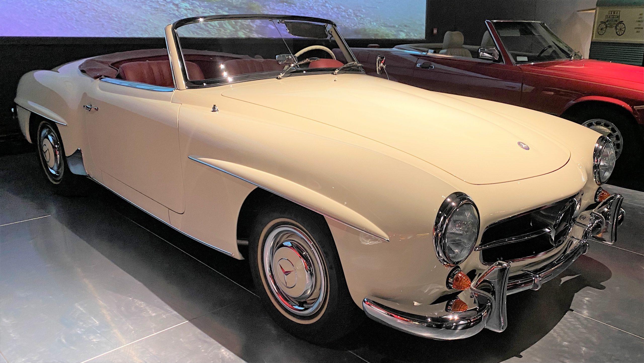 1955年メルセデスベンツ190SL-1955 Mercedes Bens 190SL-常設展-三和老爺車博物館-成都市-四川省