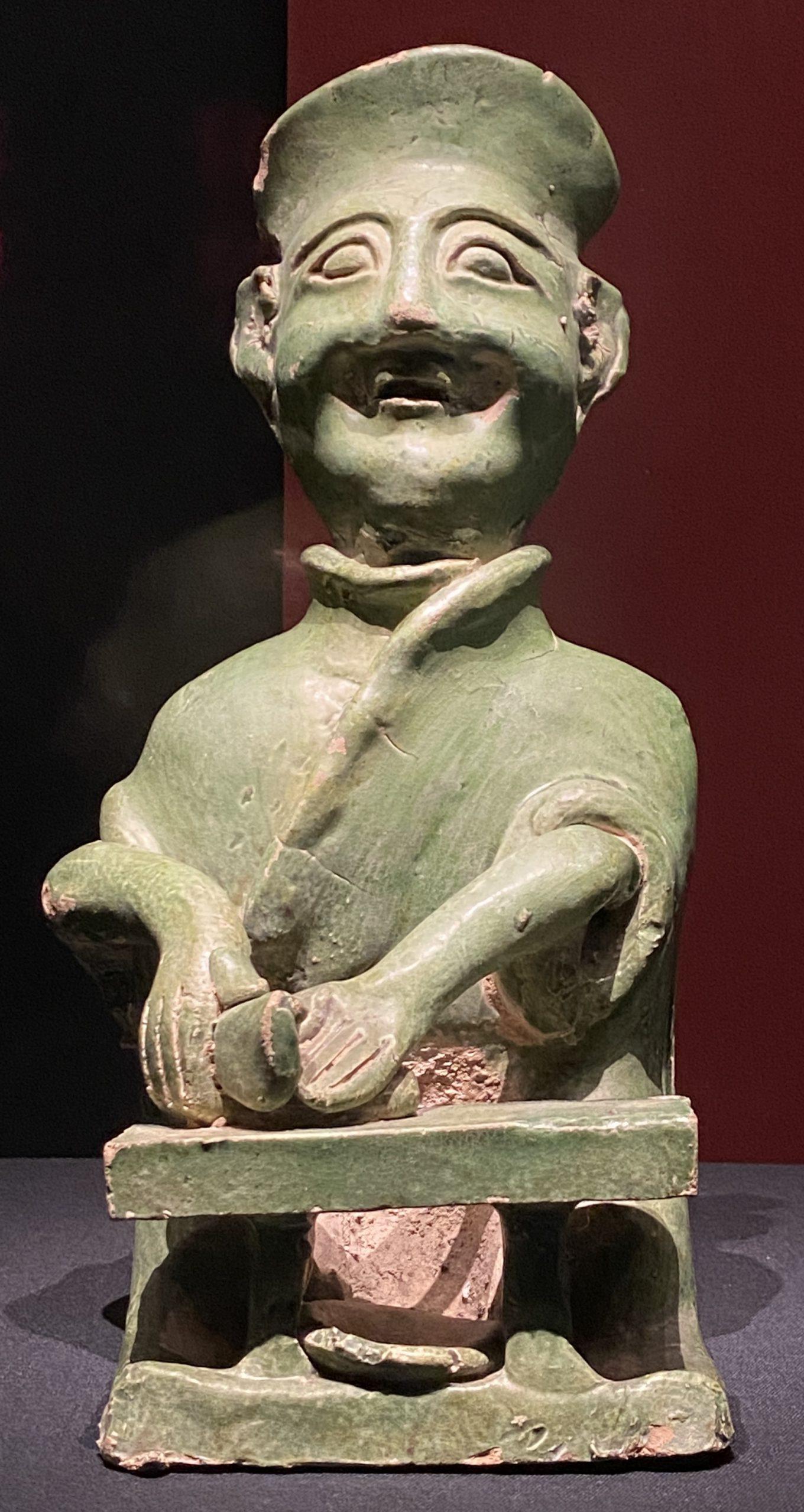 緑釉陶庖廚俑-【列備五都-秦漢時代の中国都市】-成都博物館-四川成都