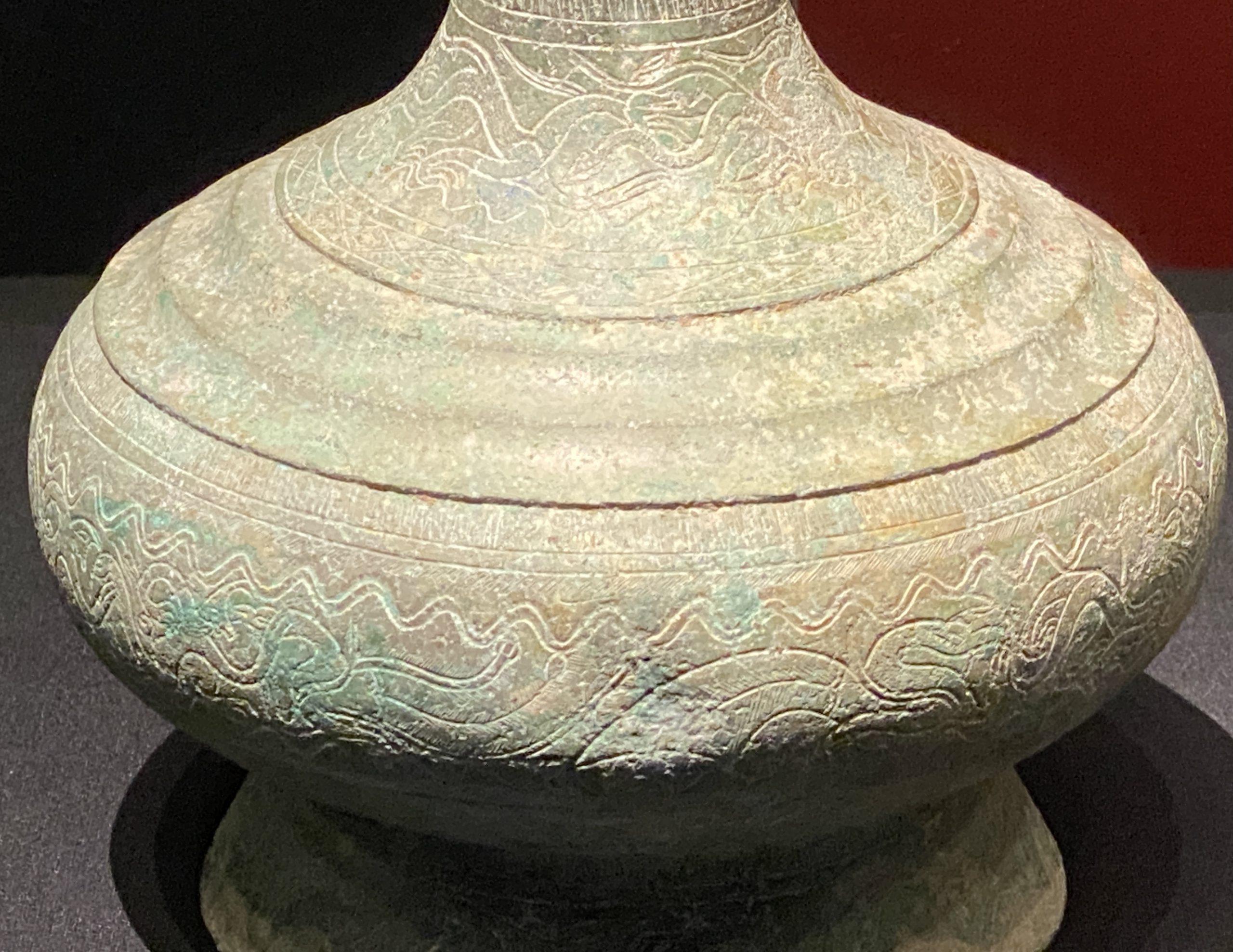 長頚銅壺-【列備五都-秦漢時代の中国都市】-成都博物館-四川成都