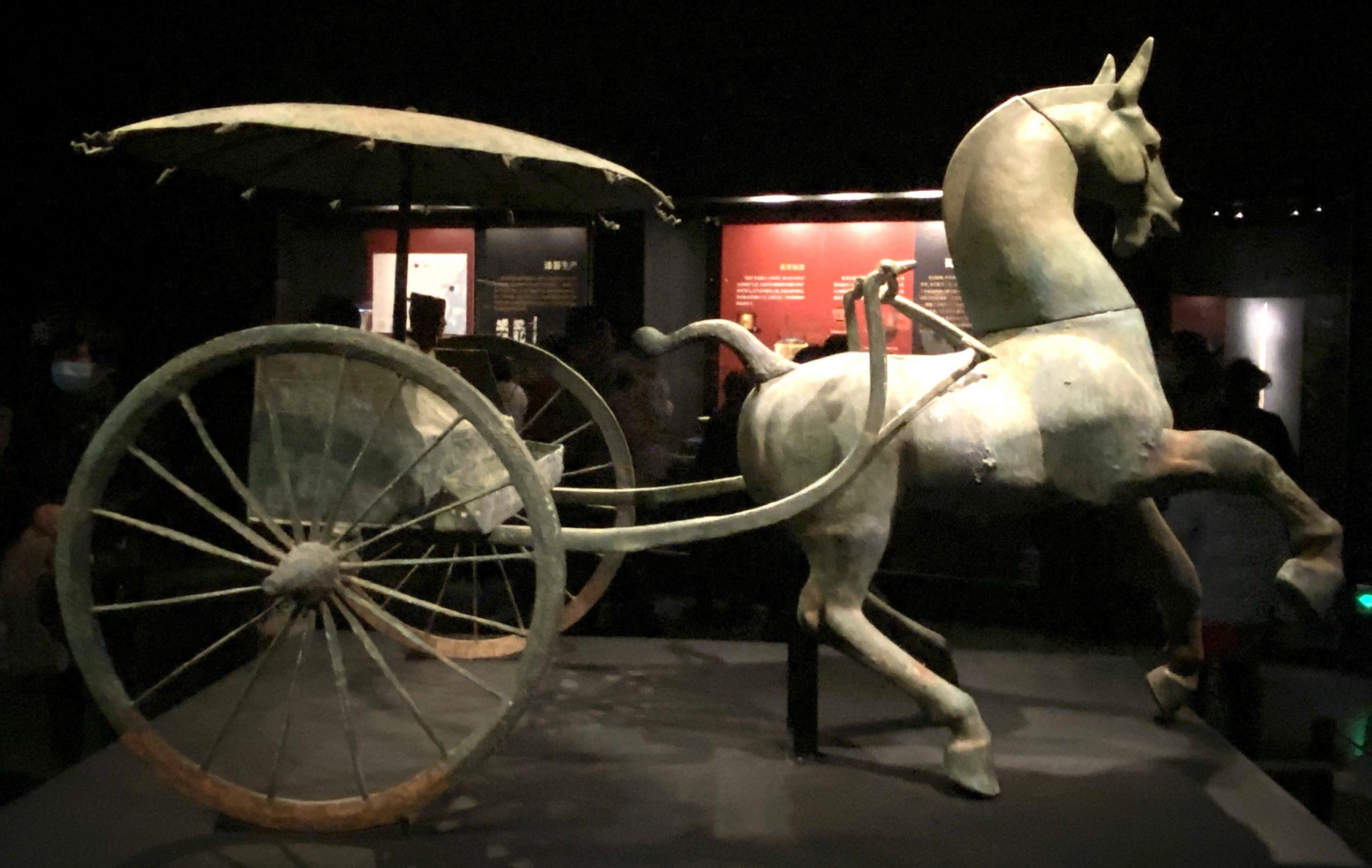 銅車馬「複製品」-【列備五都-秦漢時代の中国都市】-成都博物館-四川成都