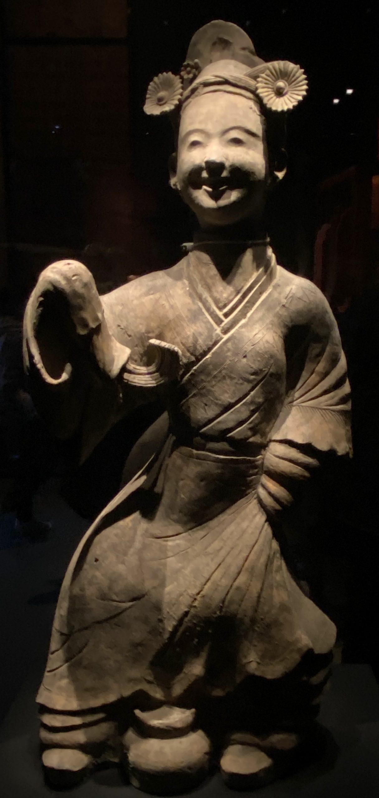 漆立舞俑-【列備五都-秦漢時代の中国都市】-成都博物館-四川成都