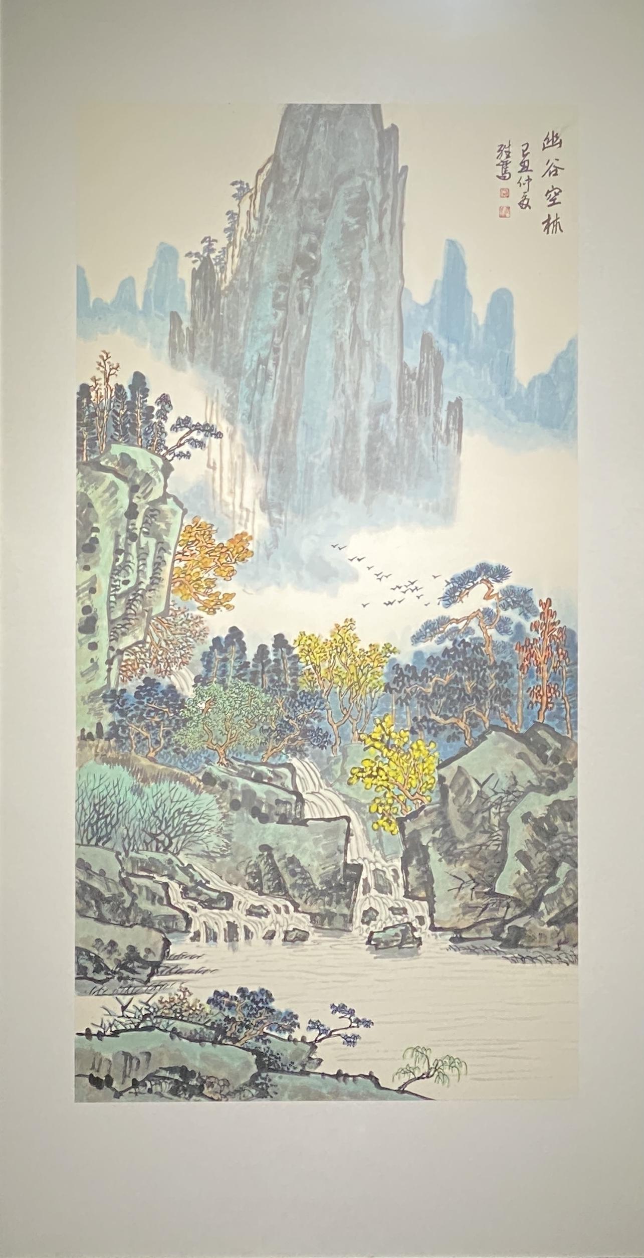 幽霊空林-2009-中国画-136×68cm-「丹青を振りかけ、詩情を送る-何継篤個人書画展」成都市美術館