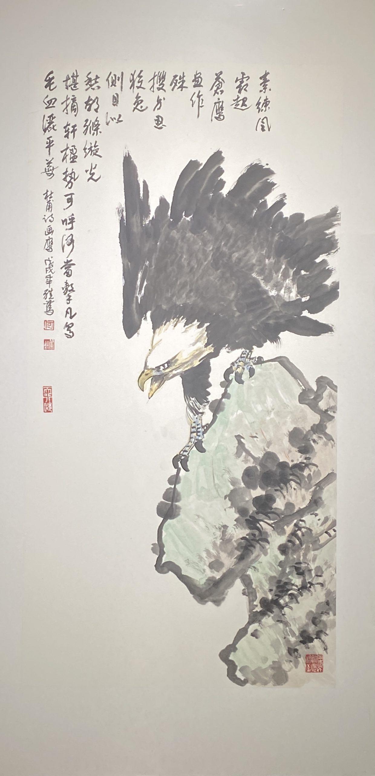 素練風露-2018-中国画-137×70cm-「丹青を振りかけ、詩情を送る-何継篤個人書画展」成都市美術館