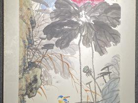 露浥荷香り-2017-中国画-86×70cm-「丹青を振りかけ、詩情を送る-何継篤個人書画展」成都市美術館