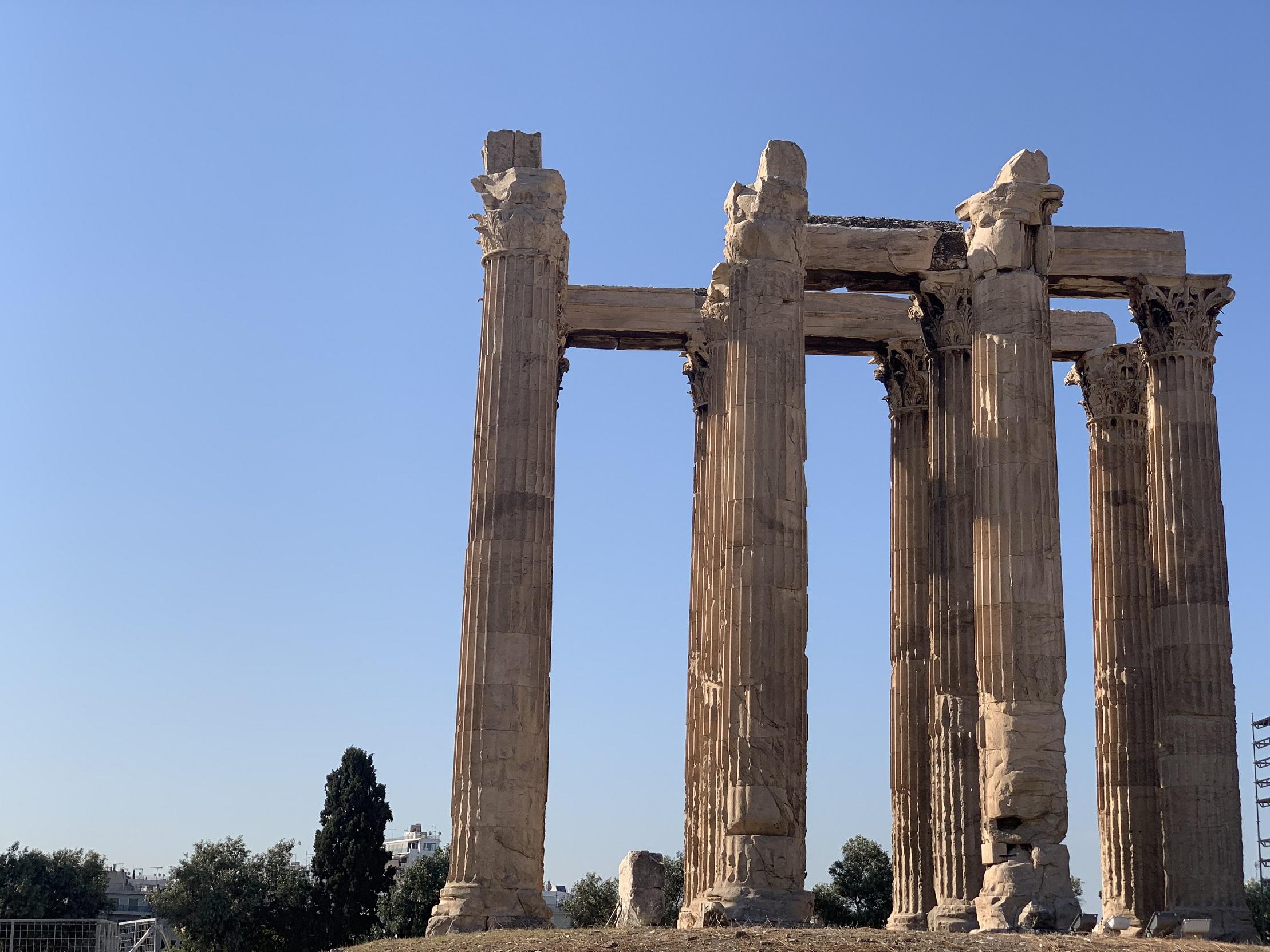 オリュンピアのゼウス神殿-アテネ-ギリシャ-撮影:劉雲昊2019.9.8