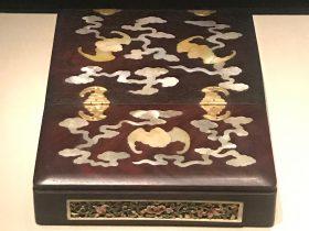 清・紅木嵌螺鈿鑲牙辺鏡支架-重華宮-【重華宮へ入り】巡回展-成都博物館
