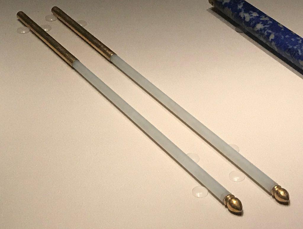 清・青玉鑲金箸-漱芳齋-【重華宮へ入り】巡回展-成都博物館